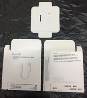 Wholesale iphone earphone jack accessories for sale - Group buy NEW Original heaphone jack adapter empty retail package boxes ORI earphone convertor paper box with accessories