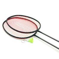 бадминтонное натягивание оптовых-LOKI VT Series Black Carbon Badminton Racket 6U 72g Super Light Training Badminton Racquet 22-30 LBS with String and Bag