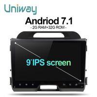 Discount kia sportage gps radio android - uniway AZP9071 android 7.1 car dvd for kia sportage 2014 2011 2009 2010 2013 2015 car radio stereo multimedia player