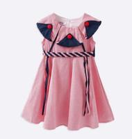 8a7ec55197210 Nouveaux vêtements pour filles fille Robes Enfants Boutique Vêtements Plaid  filles sans manches Pet Pan Collar Princesse Robes