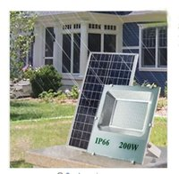 china iluminação led direta venda por atacado-Solar ao ar livre Luzes de Inundação LEVOU 200 W 120 W 100 W 70-85LM Lâmpada À Prova D 'Água IP67 Iluminação Holofote Recarregável Bateria Painel de Energia Direta China