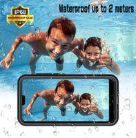 ingrosso telefono cellulare ip68 impermeabile-Shell Box Marca IP68 Impermeabile Antipioggia Dropproof Dirtproof Antiurto Cell Phone Case per Huawei P20 Pro Pacchetto al dettaglio