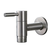 Wholesale stainless washers resale online - Stainless Steel Single Handle Water Tap Faucet quot Inlet and quot Threaded Outlet Wall Mount for Laundry