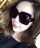 Wholesale huge pc - Popular Lady vogue huge big sunglasses Luxury brand evidence sunglasses retro vintage frame Oversize glasses with BOX