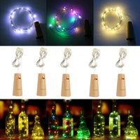 Wholesale wholesale cork wine stoppers - LED String Light 2M 20Led Glass Cork Christmas Lights Shaped Wine Bottle Stopper Lamp Party Led Lights