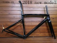 Wholesale 58cm frame online - 2018 NEW T1000 UD full carbon fibre road bike frame racing bicycle frameset taiwan frames size cm can be XDB no customs duty ship