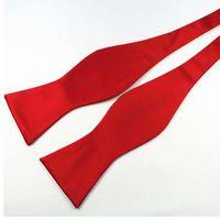 laço de borboleta verde dos homens venda por atacado-RBOCOTT Bow Laços Auto Tie Moda Masculina Cor Sólida Bowtie Casamento Ajustável Papillon Para Homens Acessórios