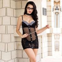 e1f53d6e86ae0 Kaufen Sie im Großhandel Sexy Frauen Sekretärin Uniform 2019 zum ...