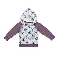 erkek çocuklar hoodies toptan satış-Çocuklar Bebek Kız Erkek Giyim Hoodies Kazak Üst Sıcak Sevimli Hayvanlar Coat Kabanlar Giyim Erkek Bebek