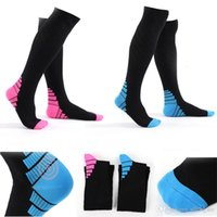 Wholesale male nylon socks - Free DHL Fashion New Men Compression Socks Fit Breathable Long Socks For Male Travel Boost Stamina Flexible Long Sock G503S