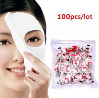 ingrosso carta compressa-100pcs / lot nuovo maschera facciale della mascherina di carta della compressa della mascherina di imbiancatura facciale di cura di faccia del fronte della pelle DIY libera il trasporto via lo SME