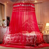 Wholesale curtains bedding resale online - Classic Lace Floor Type Mosquito Net Increase In Height Dome Suspended Ceiling Sucker Bed Curtain house decor Color ry ff