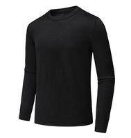 ingrosso moda giovani uomini neri-Nuovo arrivo moda autunno inverno giovani uomini nero tallone caldo maglione maglia manica lunga casual pullover