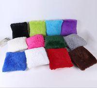 ingrosso copertine coreane di cuscini-Crystal peluche sea lion morbido e confortevole federa peluche versione coreana del cuscino creativo cuscino colore solido