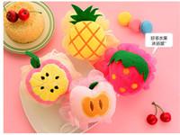 скраб для фруктов оптовых-Красочные фрукты форма ванна мяч скруббер душ спа губка тела очистки скраб ванна нижней очистки тела Скраб случайный цвет