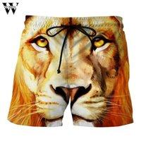 pantalon de travail pour homme achat en gros de-Womail Summer Fashion Mens Casual Lion Imprimé Plage Travail Casual Hommes Court Pantalon Shorts Pantscasual court 2018 L30720