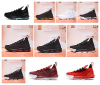 Wholesale lebron shoes for online - 2018 New Arrival LeBron XVI Black White  Gold BHM Basketball ec937a6c5