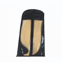 suporte de extensão venda por atacado-A peruca do armazenamento do portador do saco da embalagem da extensão do cabelo preto está o saco das extensões do cabelo para extensões do cabelo de Carring e de embalagem