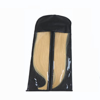 Wholesale hair bags for tools resale online - Black Hair Extension Packing Bag Carrier Storage Wig Stands Hair Extensions Bag For Carring and Packing Hair Extensions