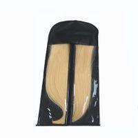 perruque achat en gros de-La perruque de stockage de transporteur de sac d'emballage de prolongation de cheveux noirs tient le sac d'extensions de cheveux pour des extensions de cheveux de emballage