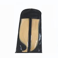 peruk saç tokası toptan satış-Siyah Saç Uzatma Paketleme Çantası Taşıyıcı Depolama Peruk Saç Uzantıları Için Çanta Standları Paketleme ve Ambalaj Saç Uzantıları