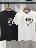 Wholesale Graphic Designs T Shirts - 2018 Italy New Top Casual Short 3D Print Alphabet Men Design Graphic poloshirt Shirt Cotton Tees plain T-shirt Fashion man clothes cool 320