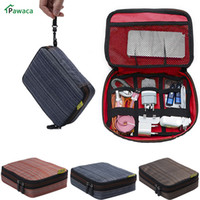portable electronics case 2018 - Portable Travel Waterproof USB Cable Storage Bag Organizer Phone Charger Case For Electronic Accessories Power Bank Hard Disk
