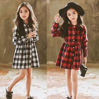 Wholesale above knee pageant dresses for sale - Group buy Kid Baby Girls Dress Christmas Plaid Tutu Dress Four Colors Clthing Toddler Kids Princess Long Sleeve Plaids Party Pageant Dresses