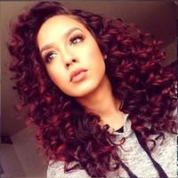Wholesale red curls - Burgundy deep wave 3 bundles cheap human hair with closure 8a Brazilian virgin hair deep curls with closure red deep curly wave
