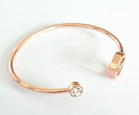 marcas de braceletes de homens famosos venda por atacado-Com logotipo de luxo famosa grande marca MK pulseira cadeia m série diamante pulseira aberta moda ajustável para homem e mulher