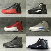 Wholesale Free Up Games - 2018 air retro Mens Basketball Shoes 12 12s TAXI Playoff BLAck Flu Game Cherry 12s XII Men Sneakers boots Free Shipping