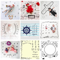 Wholesale number props - 100*100cm Newborn Photography Props Blanket Letters Numbers Printed Blankets Baby Boys Girls Infant Photo Props Accessories OOA4963