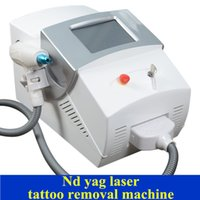 Wholesale q switch laser machines - Professional tattoo removal machine q-switch nd yag laser black doll with 5,000,000 Shots used spa equipment