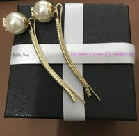 Wholesale wholesale pearl accessories - 2018 Fashion C sytel Pearl hair clips with shining rhinestonerose gold hair clip Luxury classic hair accessories party gift