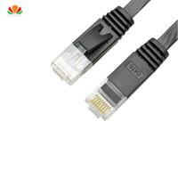 cabo de rede plana cat6 venda por atacado-30 m 50 m plano UTP CAT6 Rede Cabo de Computador Gigabit Ethernet Patch Cord RJ45 Adaptador de cobre de pares trançados GigE LAN