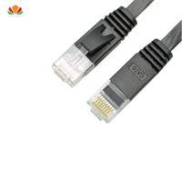 utp patch großhandel-30m 50m flach UTP CAT6 Netzwerkkabel Computerkabel Gigabit Ethernet Patchkabel RJ45 Adapter Kupfer Twisted Pair GigE LAN