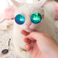 Wholesale dog pet photos resale online - 10 Pieces Hot Sale Pet Sunglasses for Cat Small Dogs Eyes Protection Sun Glasses Puppy Photos Props Eyewear