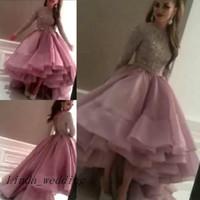 arabische freie kleider großhandel-Freies Verschiffen arabische Abschlussball-Kleider neue Myriam Fares reizvoller roter Teppich-moslemischer Sequin-lange Hülsen-Abend-Berühmtheits-Kleid-Frauen-Partei-Kleid