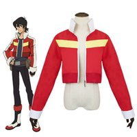 ingrosso giacca rossa del giappone-Asian Size Japan Anime Voltron Keith Red Jacket Top Coat Costumi Cosplay Manica lunga Outfit Halloween