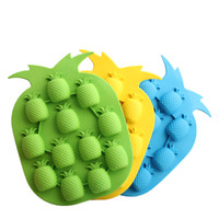 Wholesale pineapple ice mold for sale - Group buy Pineapple Shape Ice maker mold tray creative Ice Cream Tools Freeze Mould kitchen bar party ice tools