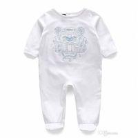 Wholesale Childrens Jumpsuits - Baby Bodysuit Rompers Jumpsuits Babies Girls Clothing Childrens Dresses Newborn Baby Cotton Long Sleeve Clothes Romper