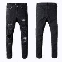 мужчины свободные джинсы дизайнер оптовых-Мода Мири короткие брюки мужчины свободные джинсовые Мужчины Женщины 2018 Новая Европа прямые дизайнерские джинсы мужчины