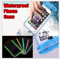 Wholesale up phones - Waterproof Case Bag Phone Case Bag Luminous Phone Pouch Water Proof Case Diving Swimming for Smart Phone up to 5.8 Inch