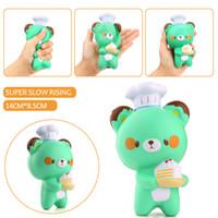 Wholesale chefs toy resale online - Baby Anti stress Toys Bear CM Kawaii Jumbo Panda Pastry Chef Squishy Charm Bread Soft Slow Rising Kid Toy Gift Cartoon Cake Bun Wholesales