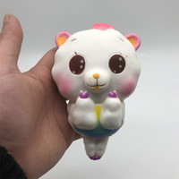 Wholesale head play - PU Big Head Sheep Squishies Children Play House Toys Gifts Cartoon Animal Shape Squishy Slow Rebound Decompression Toy 14sy C