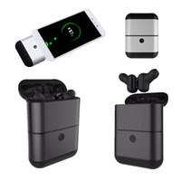 Wholesale Mini Sound Effects - High Quality X2-TWS Separation Type Bluetooth Wireless Stereo Headphone Mini Twins Waterproof Earphone With Power Bank HIFI Sound Effect