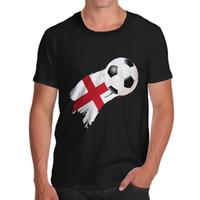 pintura inglaterra al por mayor-Twisted Envy England Flag Paint Splat Camiseta divertida para hombre