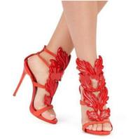 женские сексуальные кожаные босоножки оптовых-горячая сексуальная обувь женщина высокие каблуки сандалии шпильках 12 см каблуки женщины насосы партия свадебная обувь лакированная кожа Женская обувь