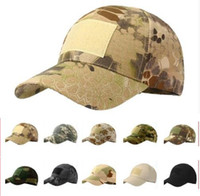 Wholesale snapback army casual for sale - Outdoor Sport Snapback Caps Camouflage Hat Simplicity Tactical Military Army Camo Hunting Cap Hat For Men Adult Cap LJJK987