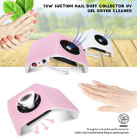 secadora al vacío al por mayor-Gustala 220V / 110V Secador de clavos Ventilador UV Gel Secador Máquina Colector de polvo de clavo Aspirador de polvo Colector de polvo 30W